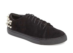 Miista Cushoined + Comfy Embellished Heels Snug Lace Up Dark Black Suede Super Fun Ink_Black Athletic
