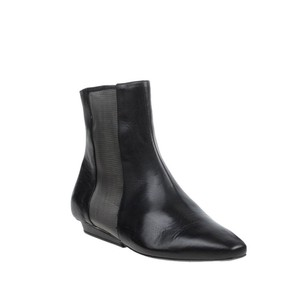 Vic Matié Leather Mesh Wedge Luxury Black Boots