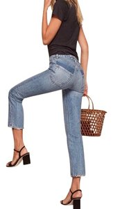Reformation Straight Leg Jeans-Distressed