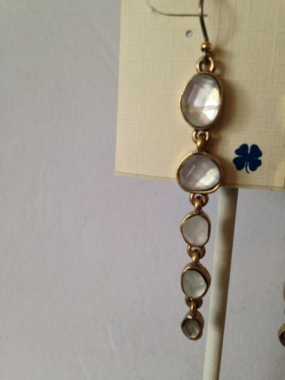 Lucky Brand NWOT Organic Stone Gold-Tone Drop Earrings