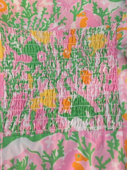 Lilly Pulitzer short dress Pink green yelllow orange white on Tradesy