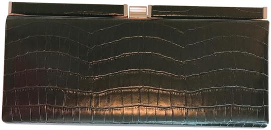 Unknown Crocodile Black Clutch