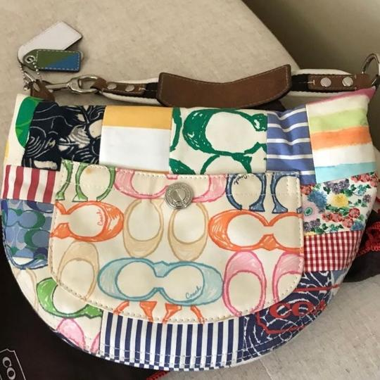 Coach Shoulder Bag, multicolored Jacquard fabric treated to repel stains and water Shoulder Bag