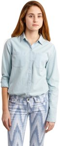 Hollister Button Down Shirt Blue