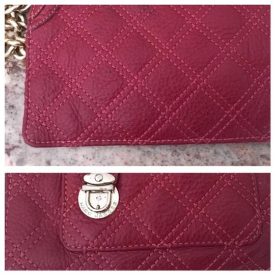 Marc Jacobs Red quilted wristlet zippered