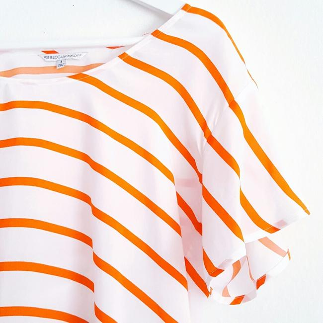 Rebecca Minkoff short dress White and Orange on Tradesy