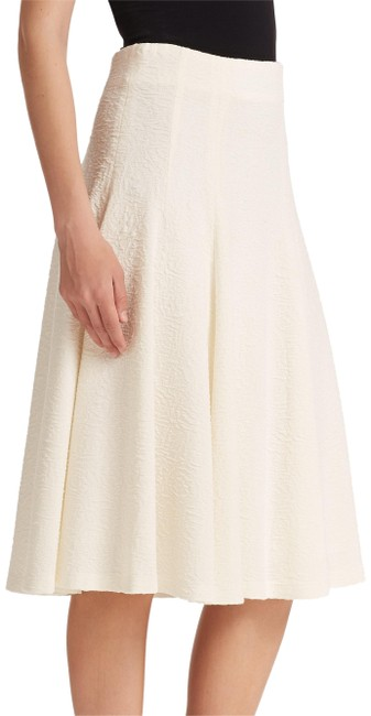 Item - Cream Kimi Hammered Crepe A-line Skirt Size 10 (M, 31)