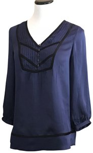 Shoshanna Top navy with black trim