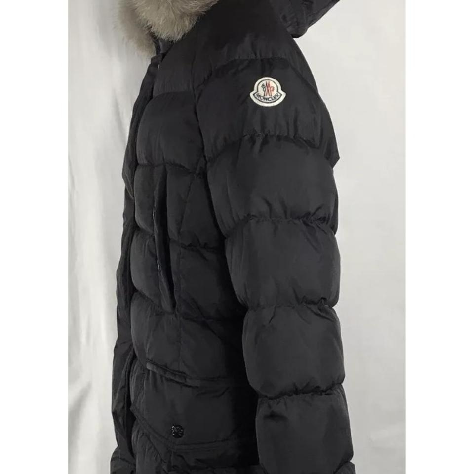 Coat Fox Puffer With Belted Clio Genuine Moncler Removable Down Trim paBzwU