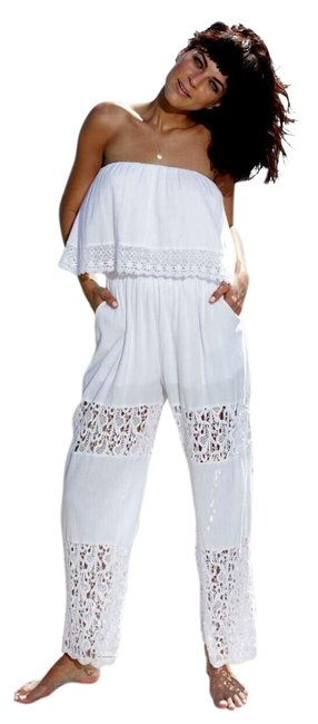 Preload https://img-static.tradesy.com/item/23350838/lirome-white-organic-cotton-lace-strapless-koketa-sides-pockets-long-romperjumpsuit-size-6-s-0-1-650-650.jpg