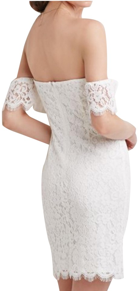 9c73ecf0d9b Forever 21 White Off-the-shoulder Lace Short Casual Dress Size 6 (S ...