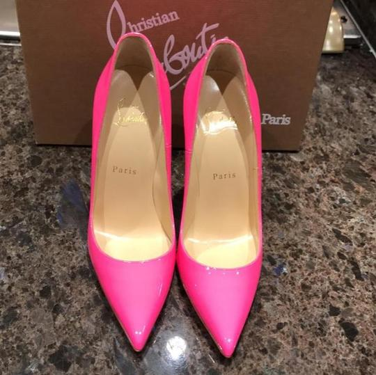 Christian Louboutin So Kate Classic Red Bottoms Leather Patent Pink Pumps
