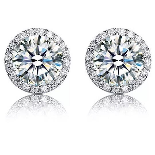 Preload https://img-static.tradesy.com/item/23350872/silver-4-carat-round-cut-halo-stud-solid-925-sterling-earrings-0-0-540-540.jpg