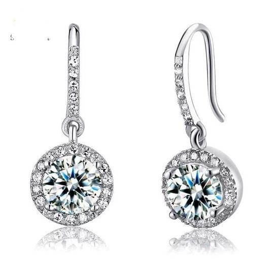 Other 100 Solid 925 Sterling Silver 3 Carat Lab Created Diamond Earrings