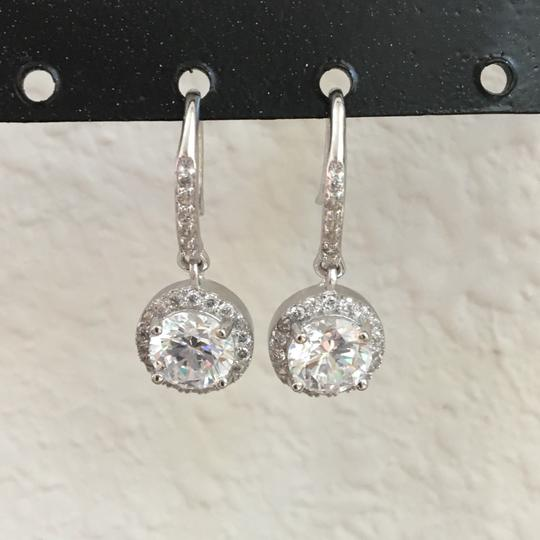 Other 100% solid 925 Sterling Silver 3 Carat lab created diamond Earrings