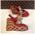Tory Burch Price Reduced / Red Linley Wedges Size US 7 Regular (M, B) Tory Burch Price Reduced / Red Linley Wedges Size US 7 Regular (M, B) Image 2