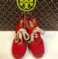 Tory Burch Price Reduced / Red Linley Wedges Size US 7 Regular (M, B) Tory Burch Price Reduced / Red Linley Wedges Size US 7 Regular (M, B) Image 4