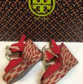 Tory Burch Price Reduced / Red Linley Wedges Size US 7 Regular (M, B) Tory Burch Price Reduced / Red Linley Wedges Size US 7 Regular (M, B) Image 5