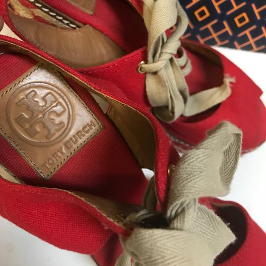 Tory Burch Price Reduced!!! / Red Wedges