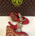 Tory Burch Price Reduced / Red Linley Wedges Size US 7 Regular (M, B) Tory Burch Price Reduced / Red Linley Wedges Size US 7 Regular (M, B) Image 10