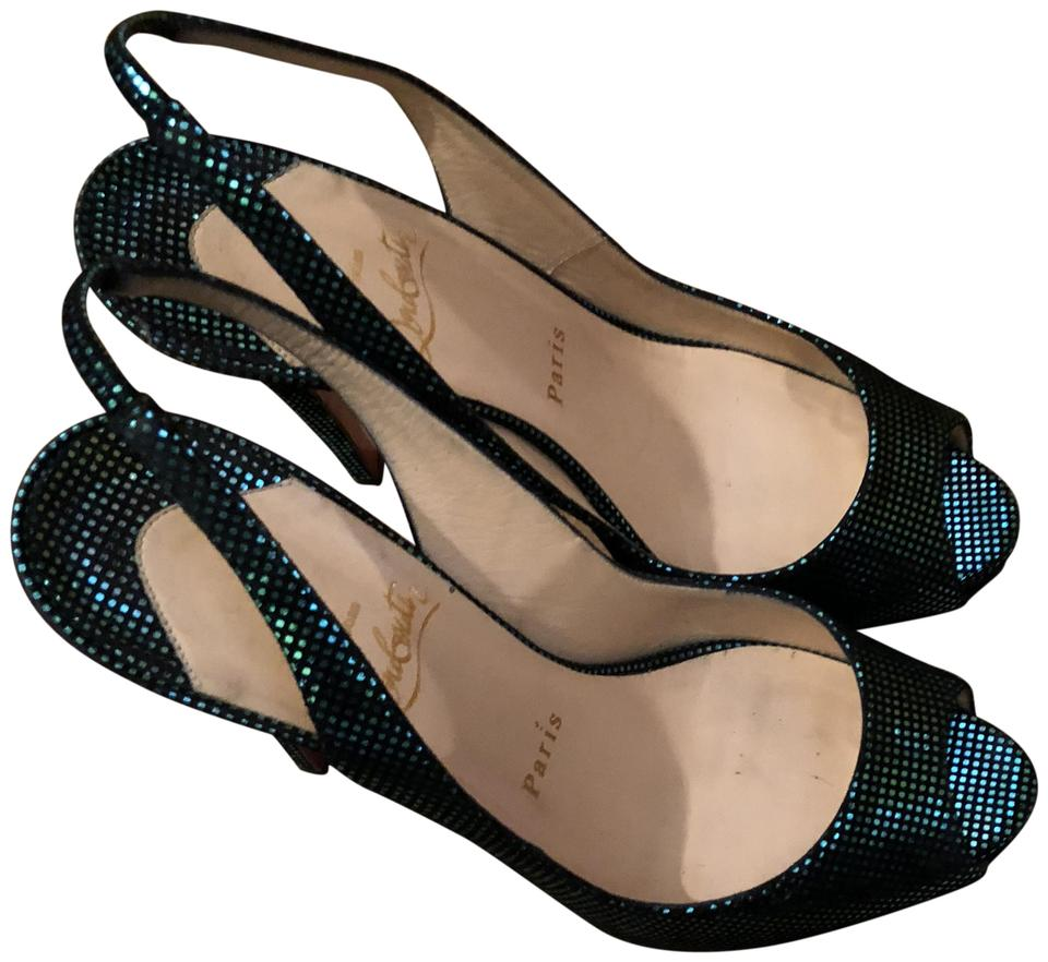 Christian Louboutin Prive Turquoise No Prive Louboutin 120 Suede Pumps 28249d