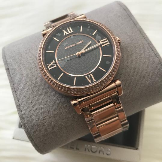 Michael Kors $295 NWT Rose Gold-Tone Catlin Watch MK3356