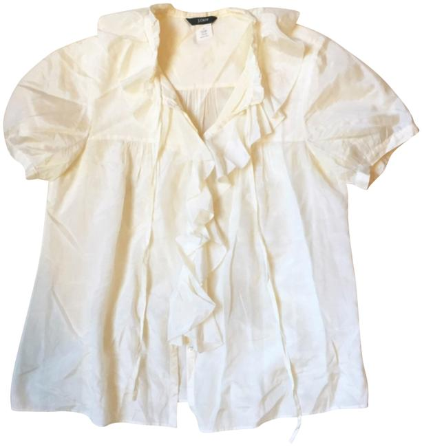 Preload https://img-static.tradesy.com/item/23351150/jcrew-cream-cotton-and-silk-ruffle-blouse-size-4-s-0-1-650-650.jpg