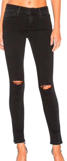 Item - Black Distressed Vixen Flawless Body Shaping Destroyed Knees 33x29 Skinny Jeans Size 31 (6, M)