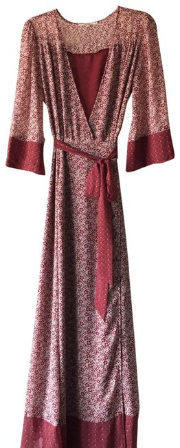 Item - Red Rn132829 Long Casual Maxi Dress Size 4 (S)