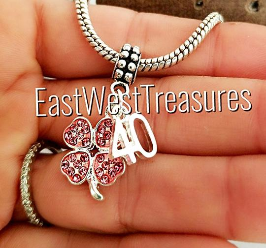 hand made 40th birthday anniversary gift idea jewelry charm pendant for bracelet