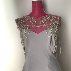 Laght Grey Couture Formal Wedding Dress Size 10 (M)