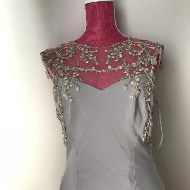 Item - Laght Grey Couture Formal Wedding Dress Size 10 (M)