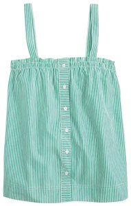J.Crew Top Green/White Stripes
