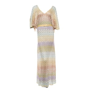 Multicolored Maxi Dress by Missoni Maxi Skirt Gown Pumps