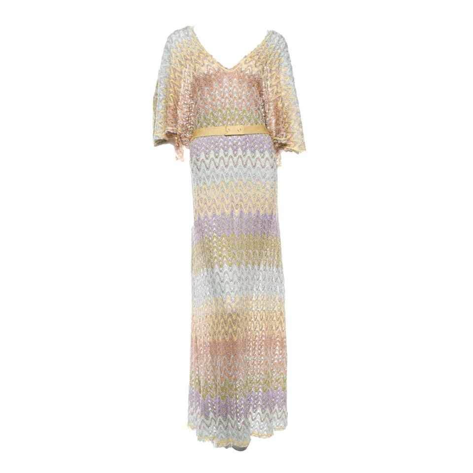 79b0ede5b Missoni Multicolored Knit with Belt Long Casual Maxi Dress Size 8 (M ...