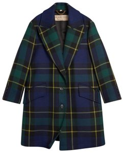Item - Green Strathrye Tartan Plaid Wool Coat