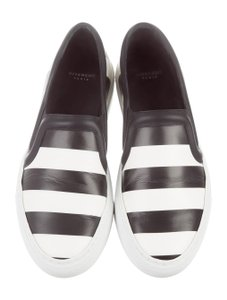 Givenchy Striped Sneakers Slip Ons Black and White Flats