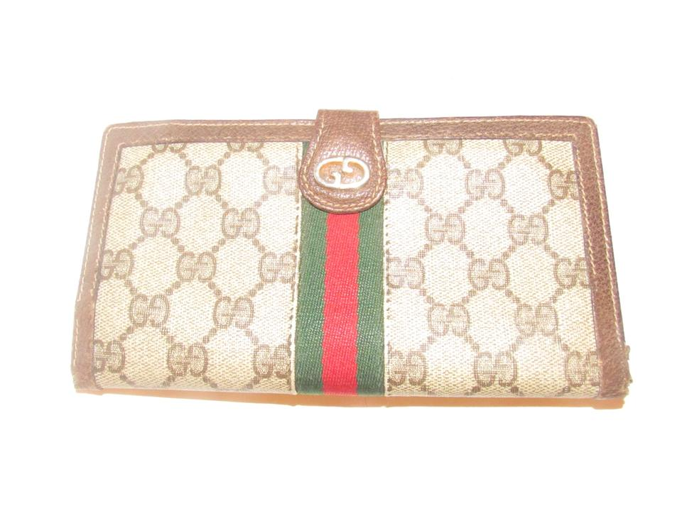 b640639f3fc6 Gucci Brown Large G Logo Print Coated Canvas and Brown Leather with ...