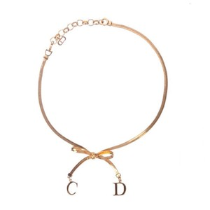 Dior Christian Dior Vintage Choker Bow Necklace