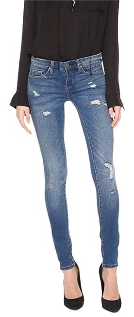 """Item - Distressed """"no Time For Dat"""" Skinny Jeans Size 4 (S, 27)"""