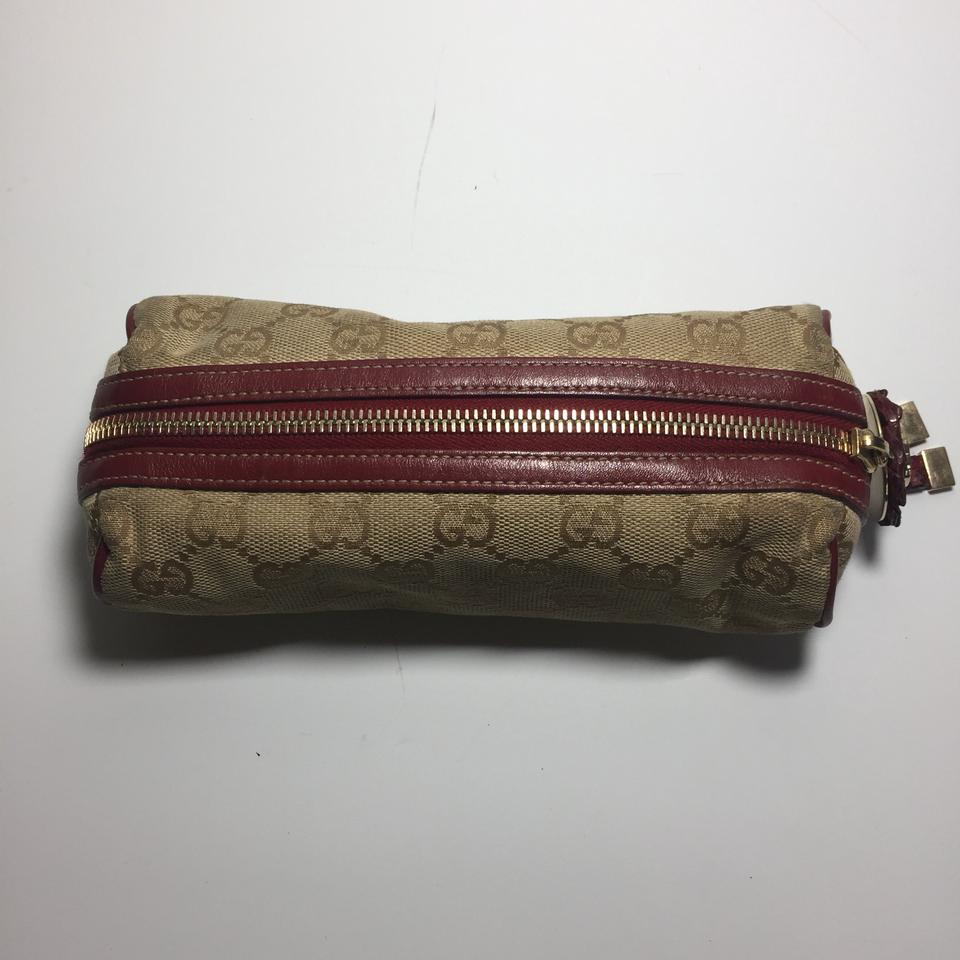 77618c4a33a Gucci Classic Brown and Beige Vintage Multi Purpose Pouch Wallet ...