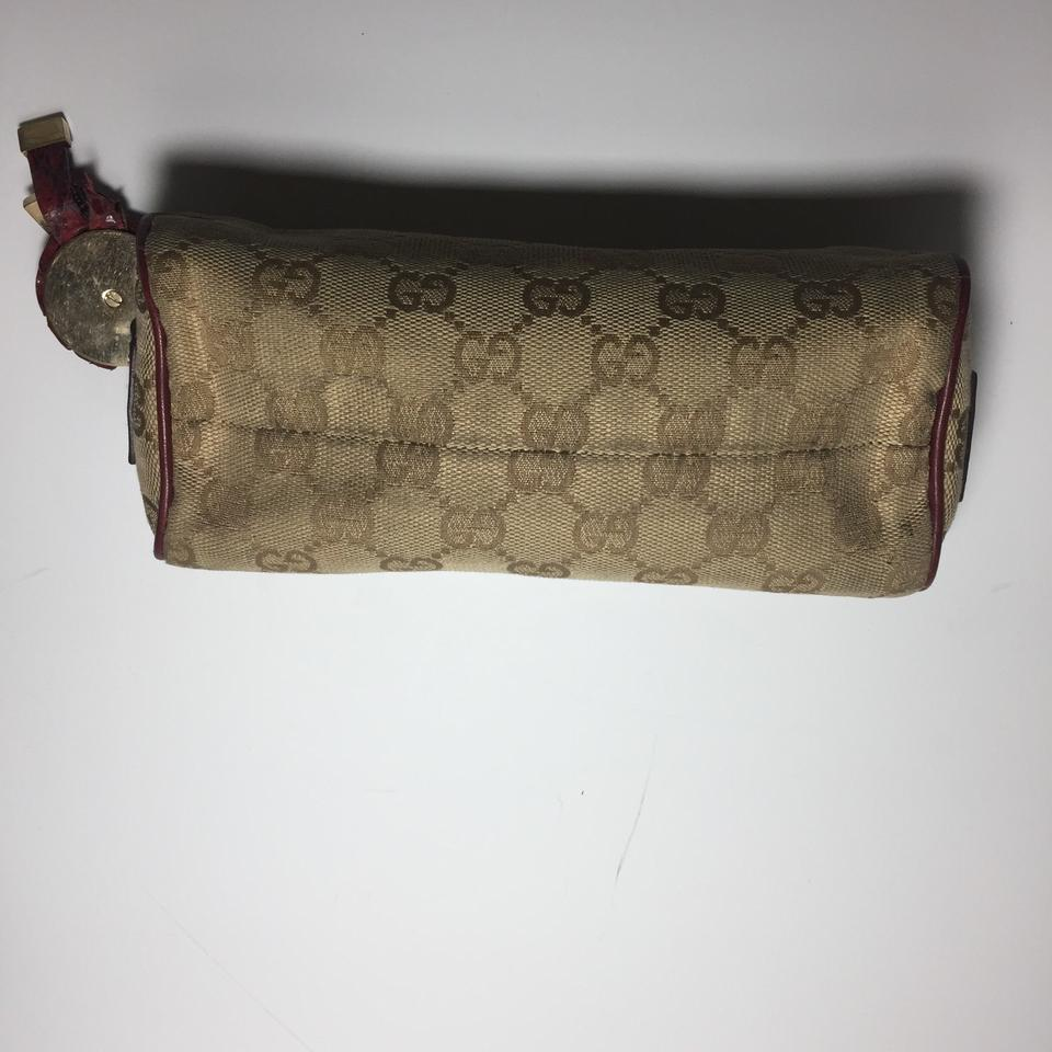 36f2482f080 Gucci Classic Brown and Beige Vintage Multi Purpose Pouch Wallet - Tradesy