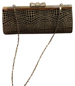 Sasha black , gold , silver Clutch