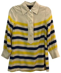 Marc by Marc Jacobs Top blue yellow ivory