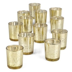 Z Gallerie Gold Mercury Cup Set: 8 Sets Of 12 (96 Total) Votive/Candle