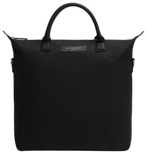 WANT Les Essentiels Genuine Leather Minimalistic Organic Tote in Black