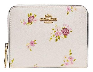 Coach COACH SMALL ZIP AROUND WALLET WITH DAISY BUNDLE BOW ZIP PULL F29449