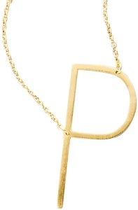 Anthropologie Anthropologi monogram pendant necklace letter P
