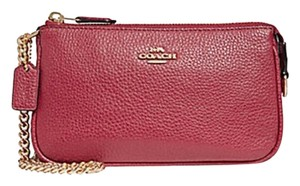 Coach Wristlet in gold red