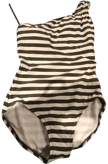 Item - Ivy Green Stripe Cruise 2018 One Shoulder Swimsuit One-piece Bathing Suit Size 6 (S)